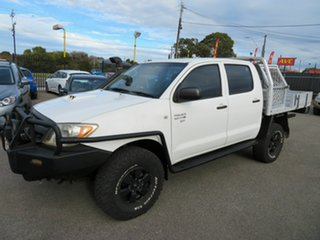 2006 Toyota Hilux KUN26R SR (4x4) White 5 Speed Manual Dual Cab Chassis.