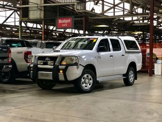 2008 Toyota Hilux KUN26R MY08 SR White 5 Speed Manual Utility.