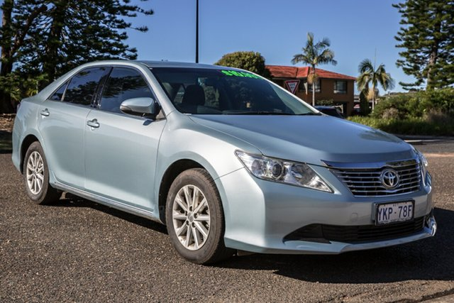 Used Toyota Aurion GSV50R AT-X Port Macquarie, 2014 Toyota Aurion GSV50R AT-X Blue 6 Speed Sports Automatic Sedan