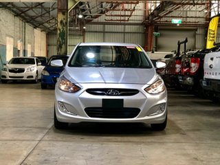 2012 Hyundai Accent RB Active Silver 5 Speed Manual Hatchback.