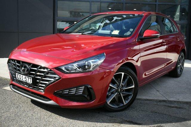 Demo Hyundai i30 PD.V4 MY21 Elite Brookvale, 2021 Hyundai i30 PD.V4 MY21 Elite Fiery Red 6 Speed Sports Automatic Hatchback