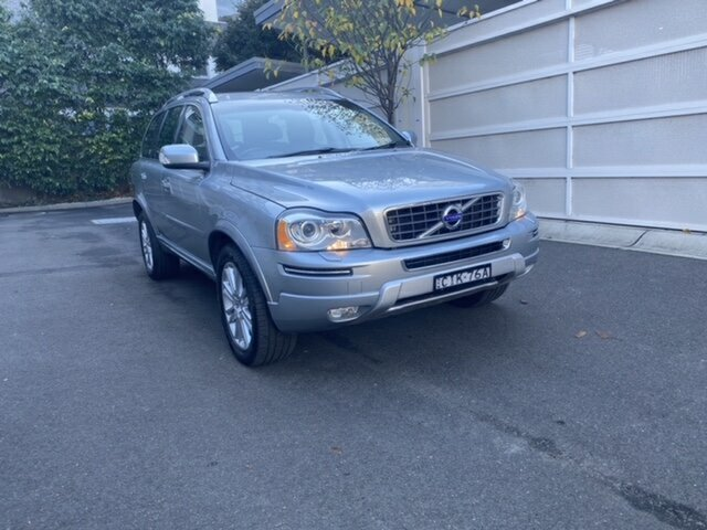 Used Volvo XC90 P28 MY12 D5 Geartronic Executive Zetland, 2012 Volvo XC90 P28 MY12 D5 Geartronic Executive Silver 6 Speed Sports Automatic Wagon