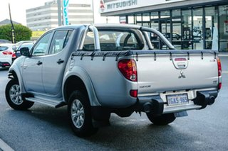 2012 Mitsubishi Triton MN MY12 GL-R Double Cab Silver 5 Speed Manual Utility.