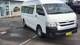 2018 Toyota HiAce TRH223R Commuter High Roof Super LWB White 6 Speed Automatic Bus