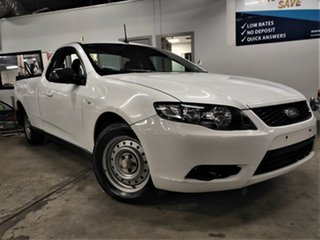 2010 Ford Falcon FG Super Cab White 5 Speed Sports Automatic Cab Chassis.
