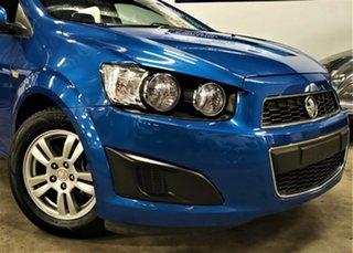 2013 Holden Barina TM MY14 CD Metallic Blue 6 Speed Automatic Hatchback.