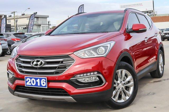 Used Hyundai Santa Fe DM3 MY17 Elite Coburg North, 2016 Hyundai Santa Fe DM3 MY17 Elite Red 6 Speed Sports Automatic Wagon