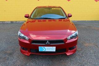 2011 Mitsubishi Lancer CJ MY11 VR X Red 5 Speed Manual Sedan.