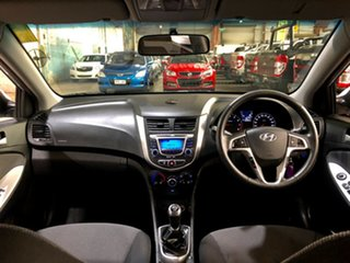 2012 Hyundai Accent RB Active Silver 5 Speed Manual Hatchback