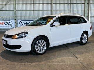 2011 Volkswagen Golf VI MY11 103TDI DSG Comfortline White 6 Speed Sports Automatic Dual Clutch Wagon.