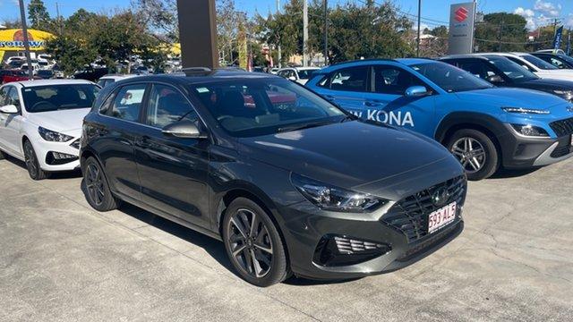Demo Hyundai i30 PD.V4 MY21 Elite Moorooka, 2020 Hyundai i30 PD.V4 MY21 Elite Amazon Gray 6 Speed Sports Automatic Hatchback
