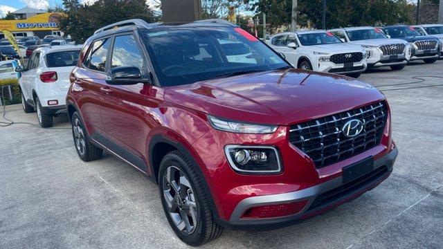 New Hyundai Venue QX.V3 MY21 Elite Moorooka, 2021 Hyundai Venue QX.V3 MY21 Elite Fiery Red 6 Speed Automatic Wagon