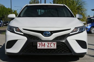 2018 Toyota Camry AXVH71R Ascent Sport Frosted White 6 Speed Constant Variable Sedan Hybrid