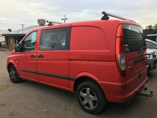 2006 Mercedes-Benz Vito 639 MY07 109CDI Low Roof Long Red 6 Speed Manual Van.