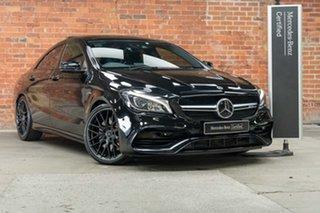 2018 Mercedes-Benz CLA-Class C117 808+058MY CLA45 AMG SPEEDSHIFT DCT 4MATIC Obsidian Black 7 Speed.