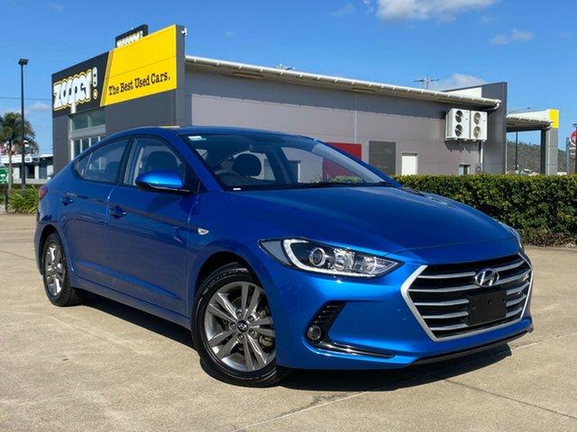Used Hyundai Elantra AD MY18 Active Townsville, 2017 Hyundai Elantra AD MY18 Active Blue/281117 6 Speed Sports Automatic Sedan