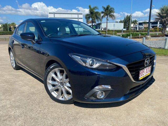 Used Mazda 3 BM5438 SP25 SKYACTIV-Drive GT Townsville, 2014 Mazda 3 BM5438 SP25 SKYACTIV-Drive GT Blue/110414 6 Speed Sports Automatic Hatchback