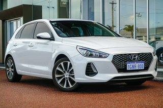 2018 Hyundai i30 PD2 MY19 Elite White 6 Speed Sports Automatic Hatchback.