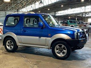 2007 Suzuki Jimny SN413 T6 JLX Blue 5 Speed Manual Hardtop.