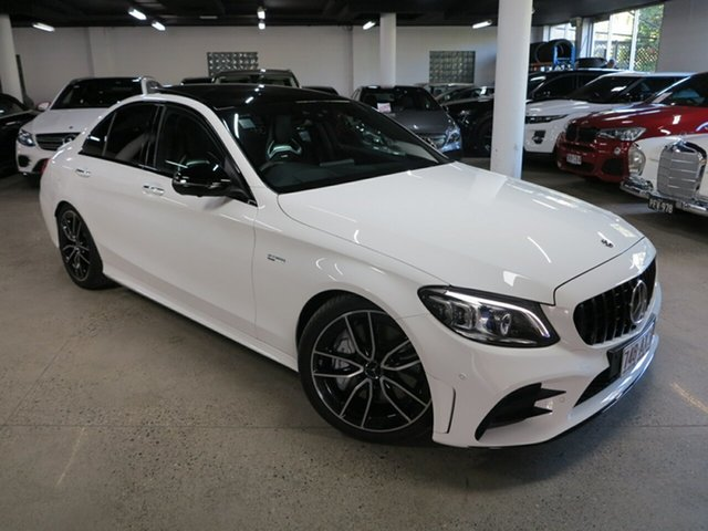Used Mercedes-Benz C-Class W205 809MY C43 AMG 9G-Tronic 4MATIC Albion, 2019 Mercedes-Benz C-Class W205 809MY C43 AMG 9G-Tronic 4MATIC White 9 Speed Sports Automatic Sedan