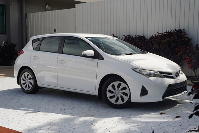 Used Toyota Corolla ZRE182R Ascent S-CVT Cairns, 2015 Toyota Corolla ZRE182R Ascent S-CVT White 7 Speed Constant Variable Hatchback