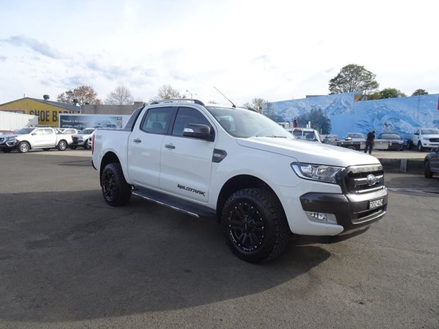 Used Ford Ranger PX MkII Wildtrak Double Cab Nowra, 2015 Ford Ranger PX MkII Wildtrak Double Cab White 6 Speed Automatic Utility