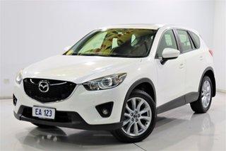 2014 Mazda CX-5 KE1031 MY14 Grand Touring SKYACTIV-Drive AWD White 6 Speed Sports Automatic Wagon.