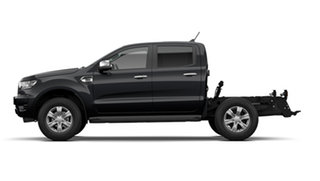 2021 Ford Ranger PX MkIII 2021.25MY XLT Double Cab Shadow Black 10 Speed Sports Automatic
