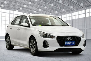 2019 Hyundai i30 PD2 MY19 Active White 6 Speed Sports Automatic Hatchback.