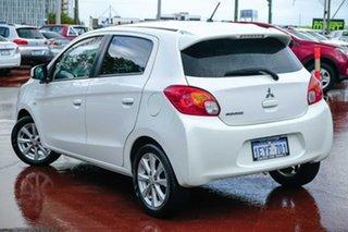 2016 Mitsubishi Mirage LA MY15 LS White 1 Speed Constant Variable Hatchback.