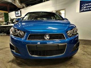 2013 Holden Barina TM MY14 CD Metallic Blue 6 Speed Automatic Hatchback