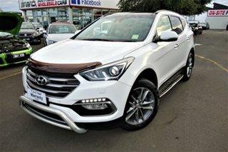 2015 Hyundai Santa Fe DM3 MY16 Highlander White 6 Speed Sports Automatic Wagon.