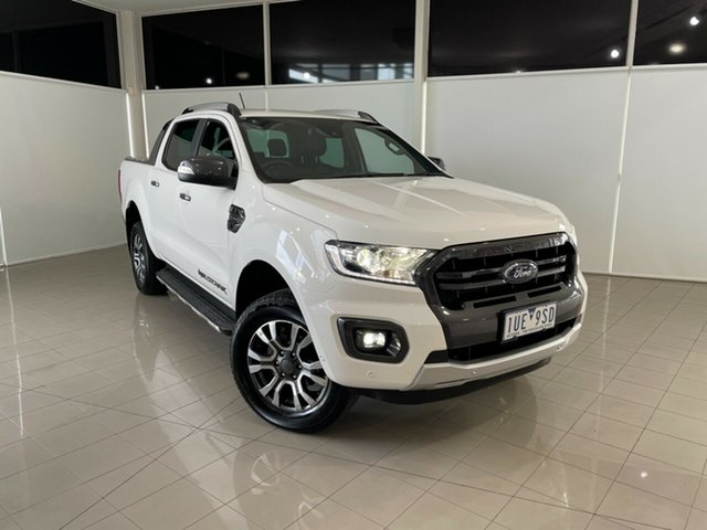 Used Ford Ranger PX MkIII 2019.00MY Wildtrak Deer Park, 2019 Ford Ranger PX MkIII 2019.00MY Wildtrak White 10 Speed Sports Automatic Double Cab Pick Up