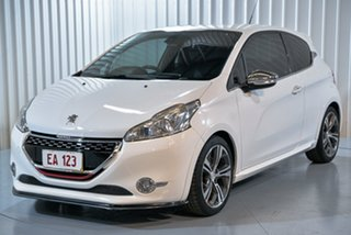 2013 Peugeot 208 A9 MY13 GTi White 6 Speed Manual Hatchback.