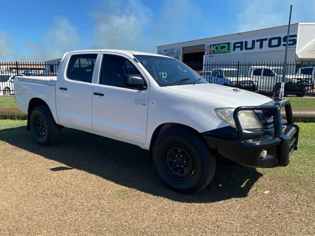 Used Toyota Hilux KUN26R MY12 SR Double Cab Berrimah, 2011 Toyota Hilux KUN26R MY12 SR Double Cab White 5 Speed Manual Utility