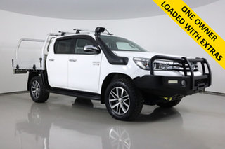 2015 Toyota Hilux GUN126R SR5 (4x4) White 6 Speed Automatic Dual Cab Utility.
