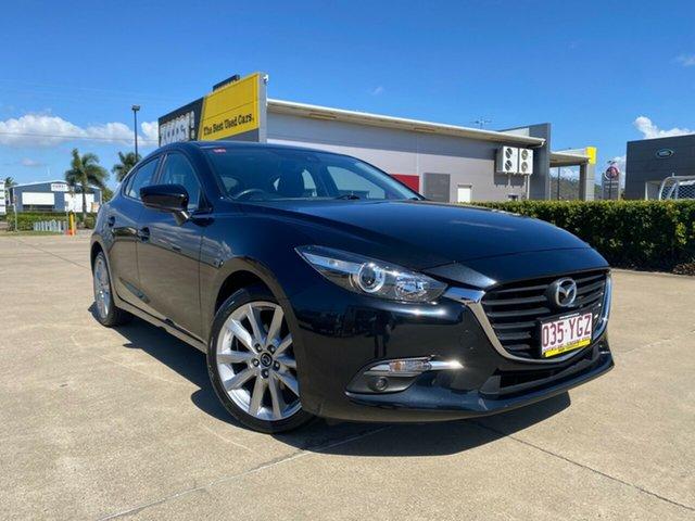 Used Mazda 3 BN5436 SP25 SKYACTIV-MT Townsville, 2018 Mazda 3 BN5436 SP25 SKYACTIV-MT Black/080718 6 Speed Manual Hatchback