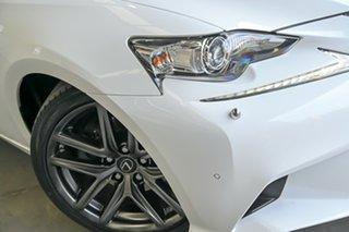 2014 Lexus IS AVE30R IS300h F Sport White 1 Speed Constant Variable Sedan Hybrid.