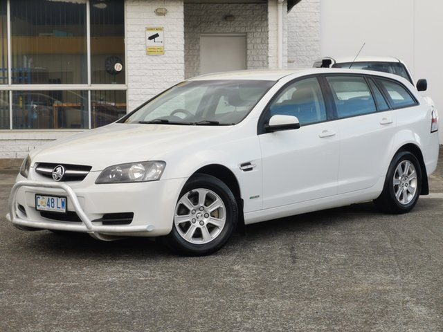 Used Holden Commodore VE MY10 Omega Sportwagon Derwent Park, 2010 Holden Commodore VE MY10 Omega Sportwagon Heron White 6 Speed Sports Automatic Wagon
