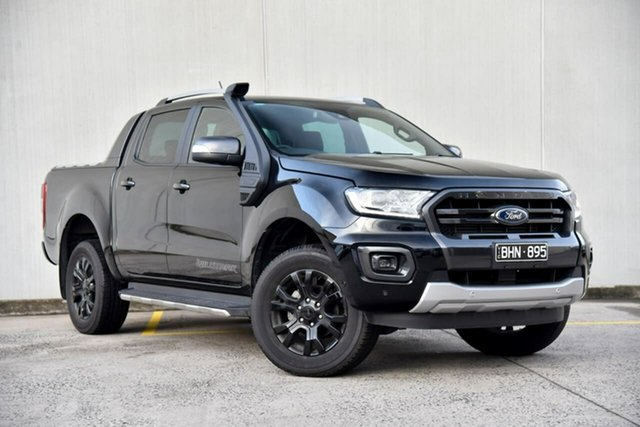 Used Ford Ranger PX MkIII 2020.75MY Wildtrak Oakleigh, 2020 Ford Ranger PX MkIII 2020.75MY Wildtrak Black 10 Speed Sports Automatic Double Cab Pick Up