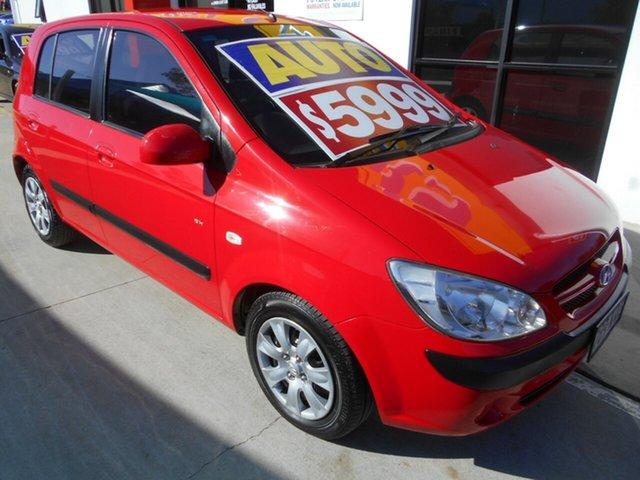 Used Hyundai Getz TB MY07 SX Springwood, 2007 Hyundai Getz TB MY07 SX Red 4 Speed Automatic Hatchback