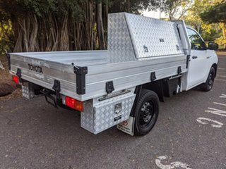 2016 Toyota Hilux TGN121R Workmate 4x2 White 6 Speed Sports Automatic Cab Chassis