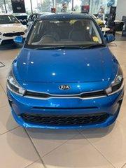 2021 Kia Rio YB MY21 S Sporty Blue 6 Speed Automatic Hatchback.
