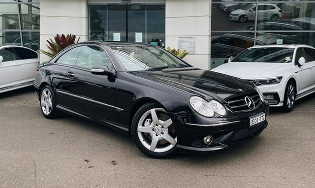 Used Mercedes-Benz CLK-Class C209 MY08 CLK350 Avantgarde Sutherland, 2009 Mercedes-Benz CLK-Class C209 MY08 CLK350 Avantgarde Black 7 Speed Sports Automatic Coupe