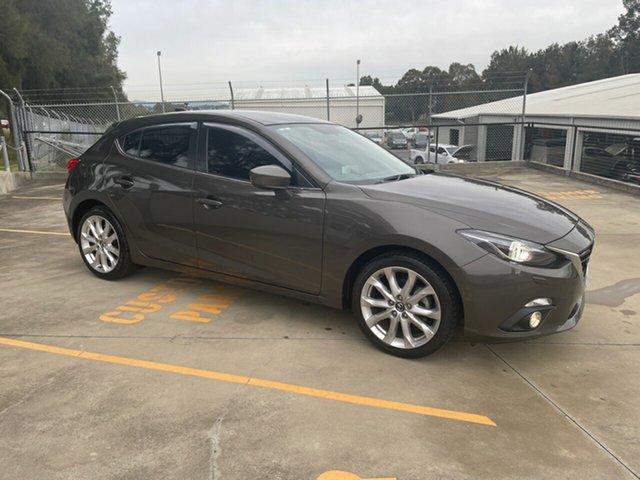 Used Mazda 3 BM5436 SP25 SKYACTIV-MT GT Maitland, 2015 Mazda 3 BM5436 SP25 SKYACTIV-MT GT Grey 6 Speed Manual Hatchback