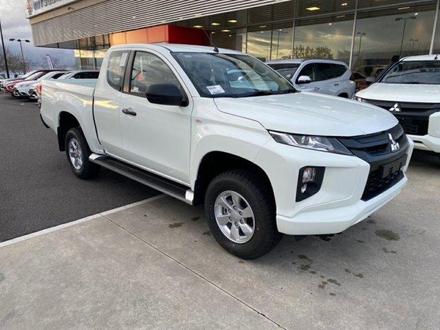 New Mitsubishi Triton MR MY21 GLX+ Club Cab Essendon North, 2021 Mitsubishi Triton MR MY21 GLX+ Club Cab White 6 Speed Sports Automatic Utility