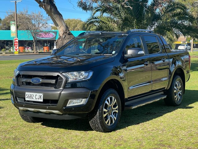 Used Ford Ranger PX MkII 2018.00MY Wildtrak Double Cab Cheltenham, 2018 Ford Ranger PX MkII 2018.00MY Wildtrak Double Cab Black 6 Speed Sports Automatic Utility