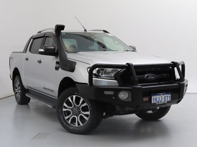 Used Ford Ranger PX MkII Wildtrak 3.2 (4x4), 2016 Ford Ranger PX MkII Wildtrak 3.2 (4x4) Silver 6 Speed Automatic Dual Cab Pick-up