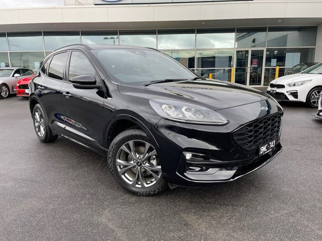 Used Ford Escape ZH 2021.25MY ST-Line Essendon Fields, 2021 Ford Escape ZH 2021.25MY ST-Line Black 8 Speed Sports Automatic SUV