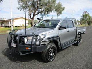 2018 Toyota Hilux GUN126R MY19 SR (4x4) Silver Sky 6 Speed Manual Double Cab Chassis